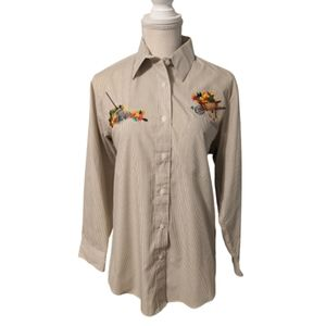 Las Olas Autumn Theme Button Down Shirt